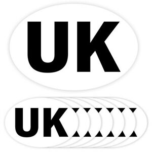 UK OVAL CAR VAN LORRY STICKER WATERPROOF SELF ADHESIVE UK STICKERS V1367
