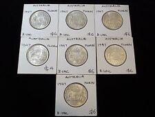 Australia 1947 Florin Silver Coin Bulk Uncirculated  #NLB1