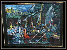 Russian Avant Garde Expressionism Oil Painting Sign Kandinsky, 1911