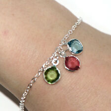 Chain Bracelet Jewelry Fashion Cheap Silver Womens Multi Color Stone Crystal