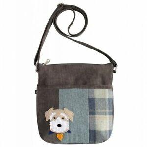 Earth Squared Dog Patchwork Applique Amelia Bag - BNWT