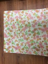 Vintage Pillow Case KING Pink Green Gold Floral No iron