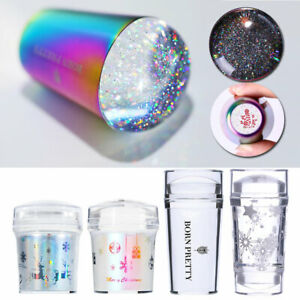 BORN PRETTY Jelly Silicone Nail Art Stamper Holographicss ear Stamping Nail Tool