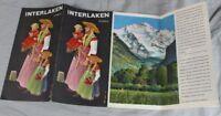 INTERLAKEN / SCHWEIZ - Reise Prospekt mit Luftkarte aus dem Jahr 1936  /S290