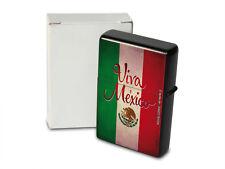 Pocket Windproof Lighter Brushed Oil Refillable Viva Mexico