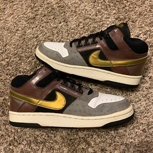 Vintage Nike Delta Force 3/4 Deluxe Mita Oak Metallic Gold 2005 Sneakers Size 11