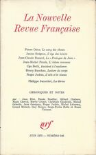 LA NOUVELLE REVUE FRANCAISE n° 246 . Juin 1973 . Philippe Jaccottet