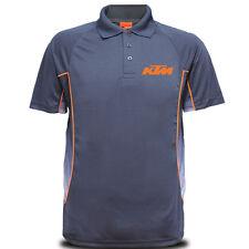 Genuine KTM SuperBike Rider Duke Motorcycle SBK Racing Navy Men Polo Tee T-Shirt