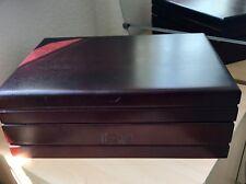 AGW Connecticut Classic Dark Cherry Wooden Vintage Cigar Humidor Box