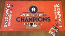 "Houston Astros 2017 World Series Champions On Field Bench Towel NWT 22"" x 42"""
