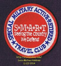 LMH PATCH Badge S*M*A*R*T Smart  SPECIAL MILITARY ACTIVE RETIRED TRAVEL CLUB  3""