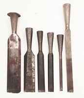 Vtg Stanley defiance 1251 wood socket chisel set lot 6pcs woodworking tools
