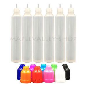100pcs LDPE Plastic Squeezable Dropper Liquid Water Pen Shape Bottles 30/60ML