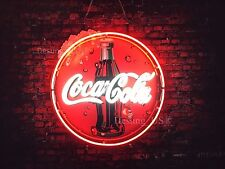 "New Coca Cola Soft Drink Neon Sign 24""x20"" with HD Vivid Printing Technology"