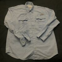 Columbia PFG Omni Shade Men's Shirt Button Vented Fishing Medium Long Sleeve