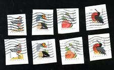 #4991-4 & #4995-8, Coastal Birds Sets, Booklet & Coil, 35 cent, Used, On Paper