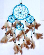 Attrape Rêve Capteur de Rêve Dreamcatcher Dream Catcher Attrapeur bleu turquoise