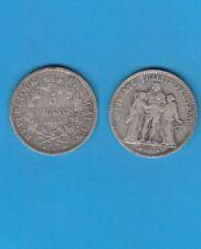 Troisième République 5 Francs Hercule  Argent  1875 Paris Variété petit a RARE
