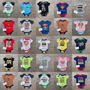 Baby Character Vest Bodysuit Short Sleeve Romper Summer Boys Girls Birth Gift