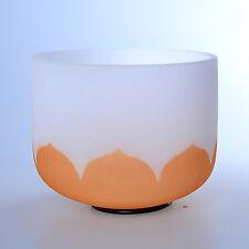 "12"" D Sacral Orange Lotus Chakra Crystal Quartz Singing Bowl Heal Stone"
