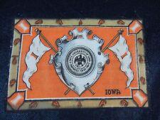 Vintage 1910 University of IOWA Hawkeyes Boxing Pennant Felt Rug Tobacco Premium