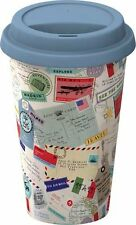 Creative Tops ADVENTURE TRAVEL MUG Postcards STAMPS ECO CUP Double Walled