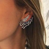 2018 Hot Trend Punk Style Zircon Statement Ear Stud Earrings Women Jewelry Gift