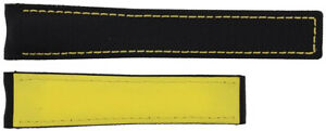 Tag Heuer Aquaracer 20mm Black with Yellow Stitching Fabric FC6362 Watch Strap