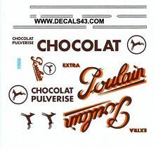 decals decalcomanie chocolat poulain  au  1/43