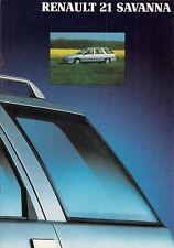 RENAULT 21 Savana 1990-91 UK Opuscolo Vendite sul mercato TS GTS GTX TXE TD GTD 4x4