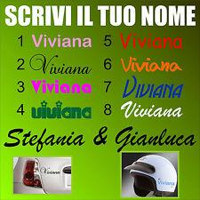 adesivo scrivi il tuo nome tuning personalizzato write your name auto casco muro