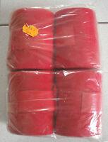 4 er Set Arbeitsbandagen, rot , 9 cm breit