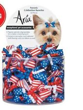 Dog Grooming Barrette - Aria - Canister of 40 ct - Patriotic Celebration - 2""