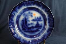 "MELLOR & VENABLES FLOW BLUE 9- 1/4""  DINNER PLATE BEAUTIES OF CHINA set of 6"