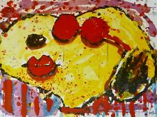 """TOM EVERHART """"Very Cool Dog Lips in Brentwood"""" Snoopy PEANUTS Hand signed Litho"""