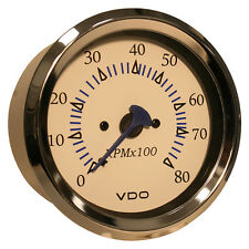 "VDO Allentare White 8000RPM 3-3/8"" (85mm) Outboard Tachometer - 12V"