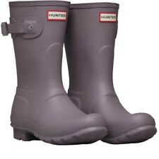 HUNTER Women's Original Classic Short Rain Boots Waterproof Size 7 US PURPLE