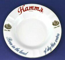 VINTAGE HAMM'S BEER LAND OF SKY BLUE WATER PORCELAIN CIGAR ASH TRAY!