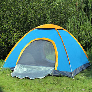 2 - 3 Man Person Camping Tent Waterproof Room Outdoor Hiking Backpack Fishing
