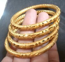 22K Gold Plated Thick 4 Pcs Bangle All time wear High Quality Indian 2.4''