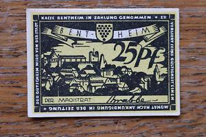 Notgeld Notgeldschein 1918-33 Bentheim 25 Pf. Künstler signiert Krabbe +++