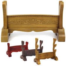 Wood Sword Stand Samurai Sword Katana Tanto Holder Stand Embossment Display Rack