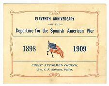 Unusual 1898-1909 11th Anniv Spanish War Soldiers Going to War, Allentown, Penns