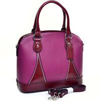 New Dasein Women Leather Briefcase Satchel Handbag Tote Bag Shoulder Bag Purse