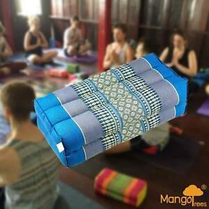 [MANGO TREES] Yoga Block Meditation Cushion Pillows Pilates Prop Bolster Blu