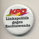 """Abzeichen (Button) der KPÖ """"Linkspolitik gegen Rechtswende"""" 1990er Jahre"""