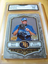 DAVID PRICE RAYS RED SOX 2009 UPPER DECK PIECE OF HISTORY ROOKIE RC GRADED 10