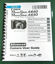 Canon PowerShot A640 / A630 Instruction Manual: 147 Pages & Protective Covers