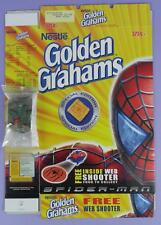 Spider-Man Golden Grahams Special Edition Cereal Box & Web Shooter Toy,  2003