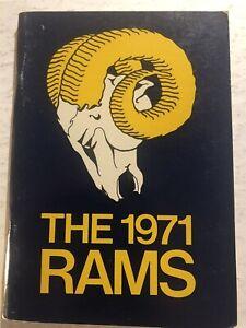 1971 Los Angeles RAMS Media Guide YEARBOOK 116 page MERLIN OLSEN Deacon JONES